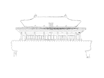 Chinese Palace Sketch wip by apocalypse139