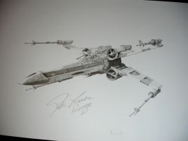 Red 2 - Wedge's X-Wing by monkipigcat