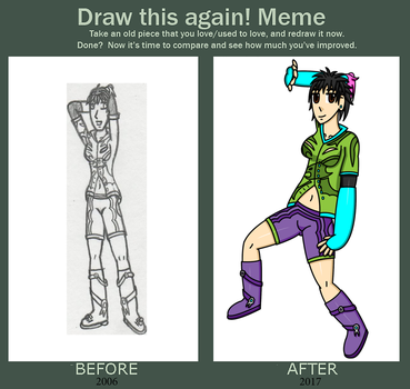 Draw this again 2006 vs 2017 by BustaWolf