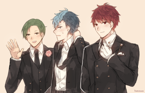 Fire Emblem: RGB Boys in Suits by batensan