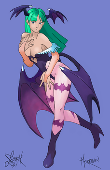 Morrigan Painting by bratchny