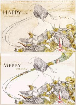 Happy new year ! by QUEENIO