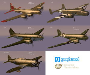[DL] Call of Duty WW2 Allied Planes (Props) by Stefano96