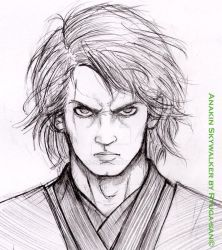 Anakin Skywalker - sketch by Ryuga-san