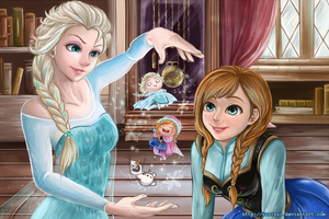 Frozen: Elsa and Anna by Justsui