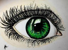 Realistic eye practice by MaryMythos