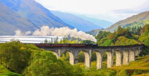 The Jacobite, Glenfinnan Viaduct by NurturingNaturesGift