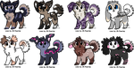 Some Dog Adoptables - CLOSED by JB-Pawstep