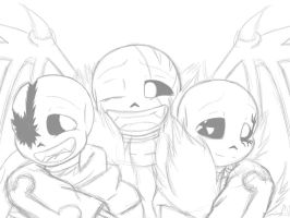 (Wip) Three retards by Snilaze