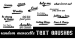 Marcelle text brushes by fullmind79