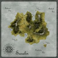 Map: The Island of Sasalin by Eowyn-Saule