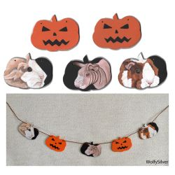 Guinea Pig Garland Halloween Theme by wolfysilver