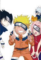 Naruto team 7.. by Airashaii