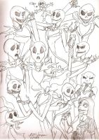 Jack Skellington Sketches by Redhead-K