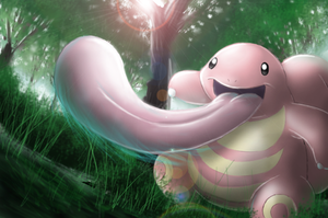Lickitung - Shining Forest art by nintendo-jr