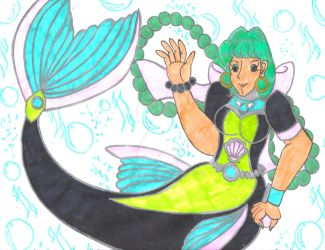 Pollyanna the Mermaid Diver by Winter-Colorful