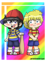 Fanart: Earthbound Ness and Lucas by JaredSteeleType