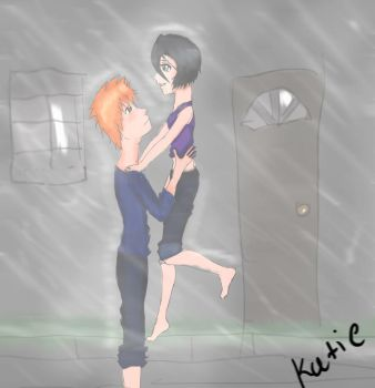 IchiRuki:dancing in the rain by penguinlover98
