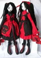 Little lolita twins by dollmaker88