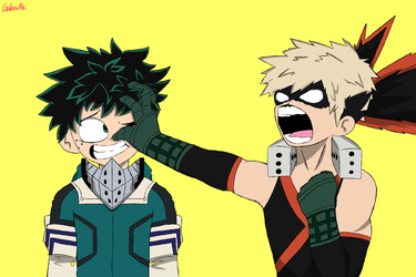 Midoriya and Bakugou by GabisMe