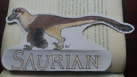 Saurian Dakotaraptor Steini Book Sign by MareleLup