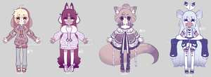 Set Price Adopts - Comfy Cuties (closed) by PickleAdopts