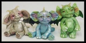 Kroulies Fantasy Littles Creatures OOAK Art by KabiDesigns