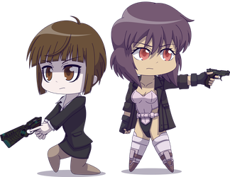 Chibi Akane and Motoko by Zacatron94