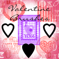 Valentine Brushes by Saphiira-Stock