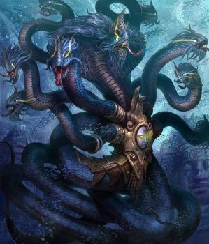 Sea Serpent (Ananta) by jubjubjedi
