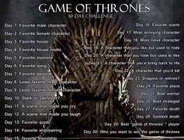 Game of thrones challenge by ScorpionFlower1