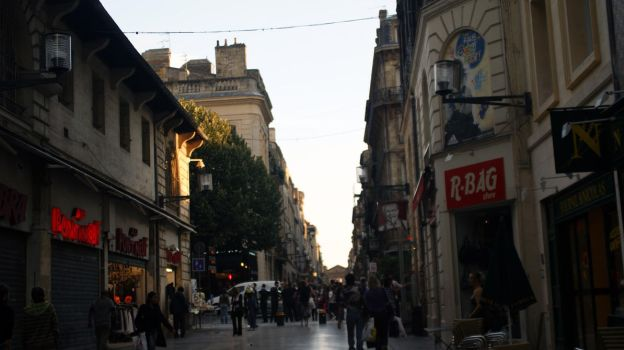 Street at sunset. Bordeaux. by inatheblue