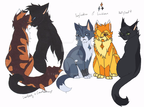 Leafpool x Crowfeather by Tazzy-girl