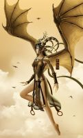 Golden Wings of Lamia by MarioWibisono