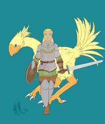 Chocobo Knight WIP by Pitdragon