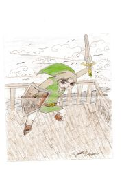 Link windwaker by DracoDeathnyte