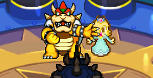 Bowser protects Rosalina by AsylusGoji91