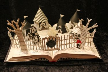 The Night Circus Book Sculpture by wetcanvas