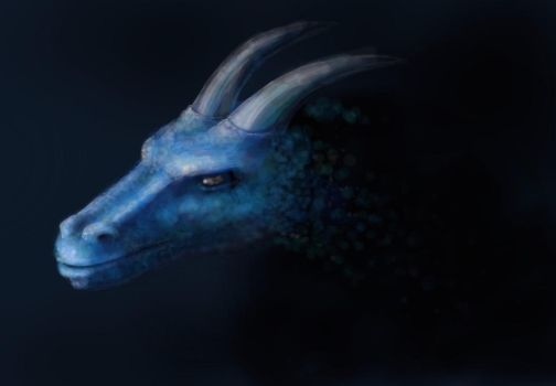 Blue Dragon by ClemBerry