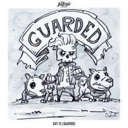 INKTOBER 2018 Day 13 - Guarded by Sephiroth-Art