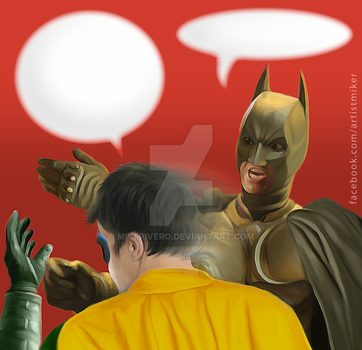 Caption Tthis: Batman and Robin by mikerivero