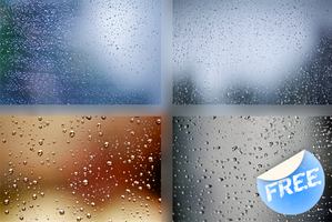 raindrops on glass by Dingostock