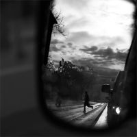 from car mirrors,street by hidlight