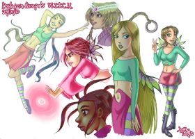 W.i.t.c.h. Doodles by frandemartino