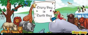 Earth Day Art Panel by designfxpro