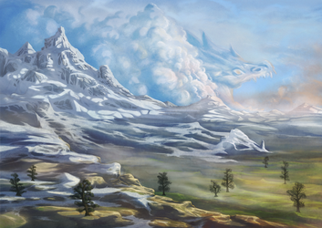 Mountains and clouds by AshiRox