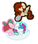 The Dessert Ponies .:Contest Entry:. by GalaxyPixies45