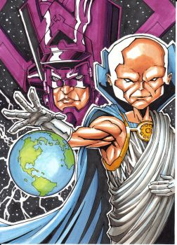 Galactus  And Watcher 150 2 by DavePLynch