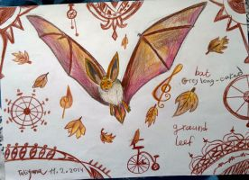 Bat - the brown autumn. by Shantifiy