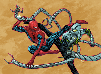 Spidey versus Doc Octopus by Guile Sharp by DanOlvera